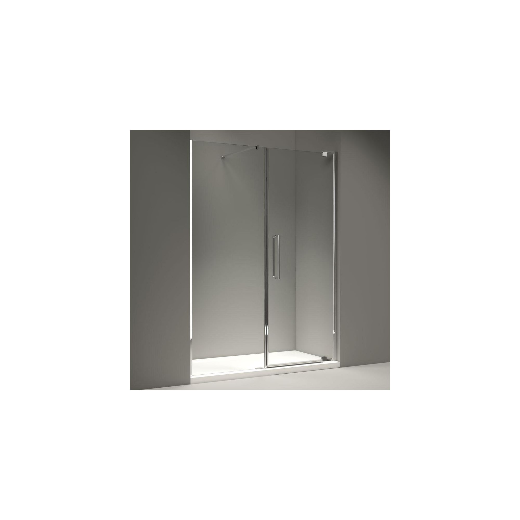 Merlyn Series 10 Inline Pivot Shower Door, 1800mm Wide, 10mm Clear Glass at Tesco Direct
