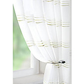 Waves Voile Curtain Panel - Green