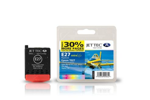 Epson T027 Colour Compatible Ink Cartridge by JetTec - E27