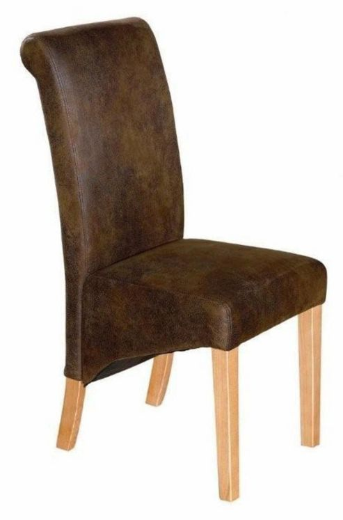Kelburn Furniture Bordeaux Suede Leather Chair (Set of 2)
