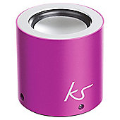 Kitsound Button Portable Bluetooth Speaker Pink