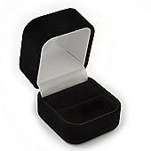 Black Velour Box For Rings