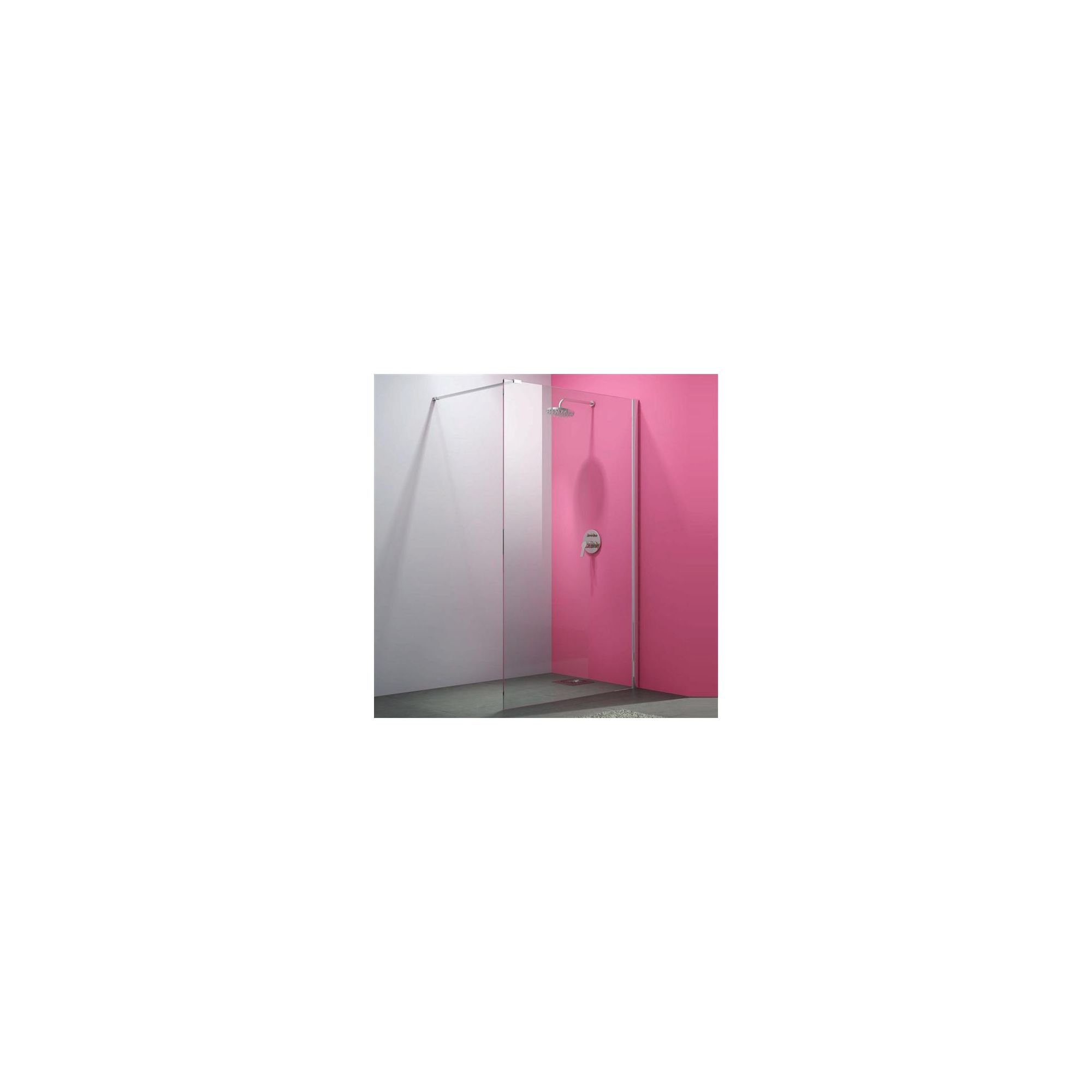 Merlyn Vivid Eight Wet Room Shower Glass Panel 800mm Wide at Tesco Direct