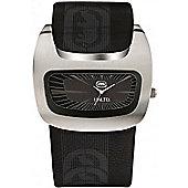 Marc Ecko Mens Black Rubber Strap Black Dial Watch E15090G1