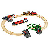 Brio Cargo Harbour Set, wooden toy