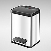 2 x 11L Stainless Steel Pedal Waste Bin - 2 Compartments