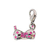 Spotty Pink Bra 3D Clip on Charm