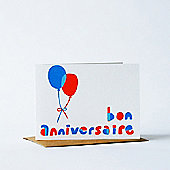 Yellow Owl Workshop Card - Bon Anniversaire