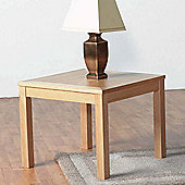 Home Essence Oakleigh Lamp Table in Natural Oak Veneer