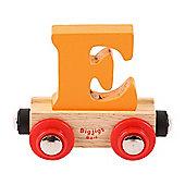Bigjigs Rail Rail Name Letter E (Orange)