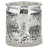 Tesco Silver Mercury Glass Tealight Holder
