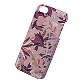 "Tortoiseâ""¢ Hard Protective Case, iPhone 5/5S, Purple Tropical Floral design."