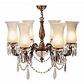 Kansa Lighting Maharaja Six Arm Chandelier - Large
