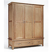 Ametis Sherwood Oak 2 Drawer Triple Wardrobe