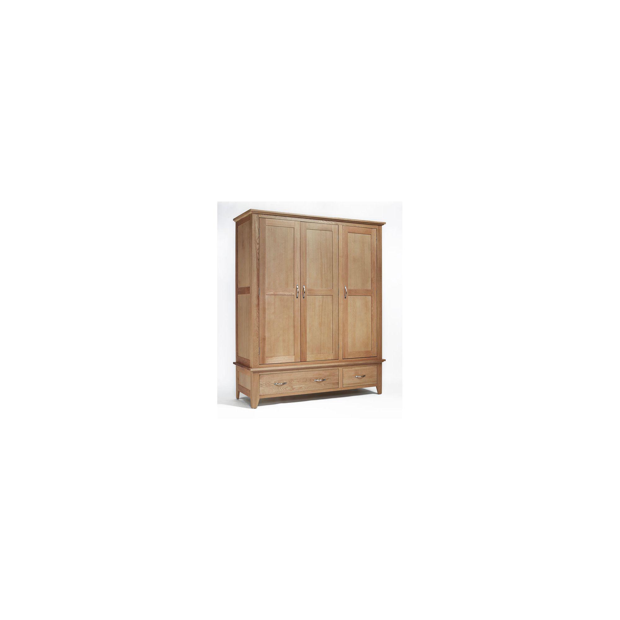 Ametis Sherwood Oak Two Drawer Triple Wardrobe at Tesco Direct