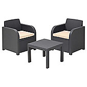 Allibert Atlanta Rattan Effect Balcony Furniture Set
