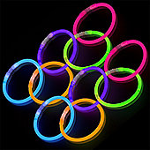 Amscan - Assorted Colours Glow Stick Bracelets 10 Pack