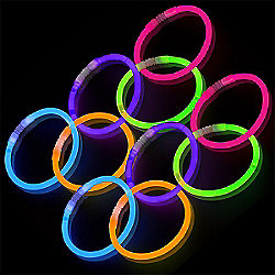 Assorted Colours Glow Stick Bracelets