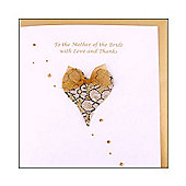 Glittering Heart Mother of the Bride Wedding Card