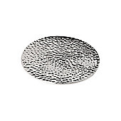 Casa Couture Beaten Metal Coasters Set Of 4 In Silver