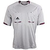 adidas Mens Grey Short Sleeved Formotion Referee Shirt Jersey - Grey