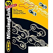 KMC Missing Link CL-562R, 6.2mm Chains - 2 on a Card 10 Speed - Campag