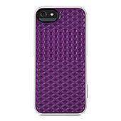 Vans Signature 3D Waffle Pattern Surround Case for iPhone 5 in Purple