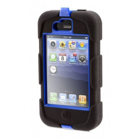 Survivor Military-Duty Case for iPod Touch 4G - Blue/Black