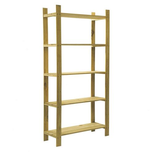 Home Essence Natural Slatted Unit - 5 Shelves