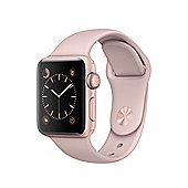 Apple Series 1 (38mm) Watch with Rose Gold Aluminum Case and Pink Sand Sport Band