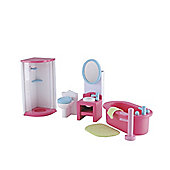 Rosebud Village Wooden House Bathroom Set
