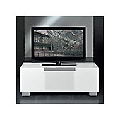 Triskom Stainless Steel / Glass TV Stand for LCD / Plasmas - White Glass