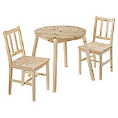 Home Zone Prague 3 Piece Dining Set