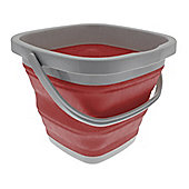 Country Club 10 Litre Collapsible Folding Bucket, Red