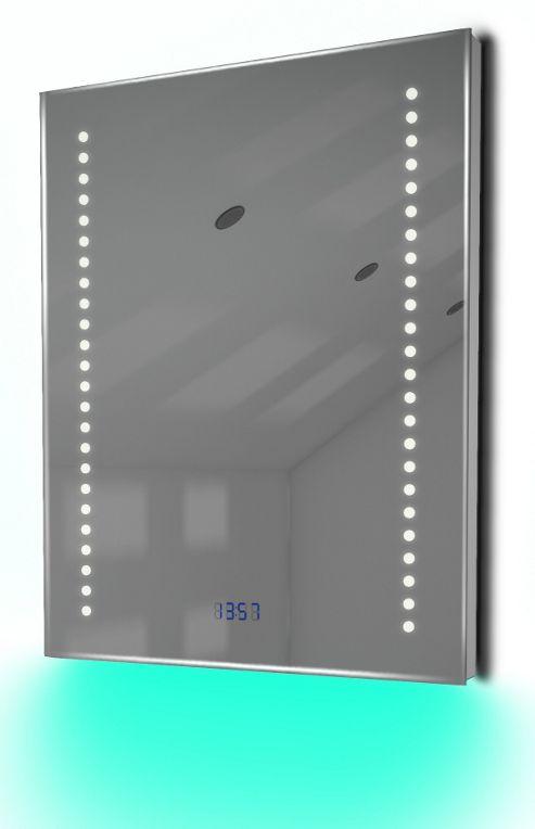 Buy Digital Clock Shaver Bathroom Mirror With Under Lighting Demist Sensor K189t From Our