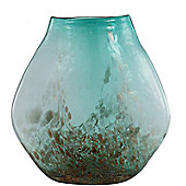 CIMC Home Mediterranean Moroccan Vase - Aqua and Gold