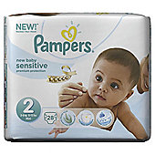 Pampers New Baby Sensitive Size 2 Carry Pack - 28 nappies