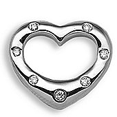 Jewelco London 9 Carat White Gold 15pts Diamond Heart