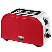"Elgento ""E449R\"" Slice Toaster 950W - Red"