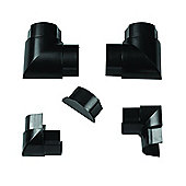 TV Trunking Black Accessory Pack 1