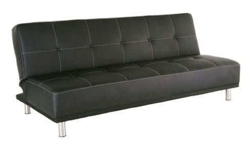 Leader Lifestyle Duke 3 Seater Convertible Sofa Clic Clac Bed - Black