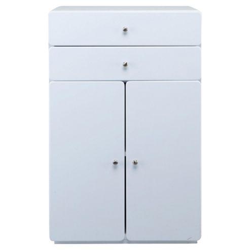 Stockholm White Gloss Double Door Unit