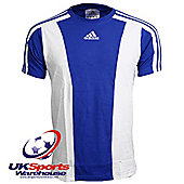 Adidas Men's Teamwear Cotton T-Shirt Blue/White (XS)