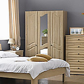Alto Furniture Visualise Bordeaux 3 Door Robe - Oak