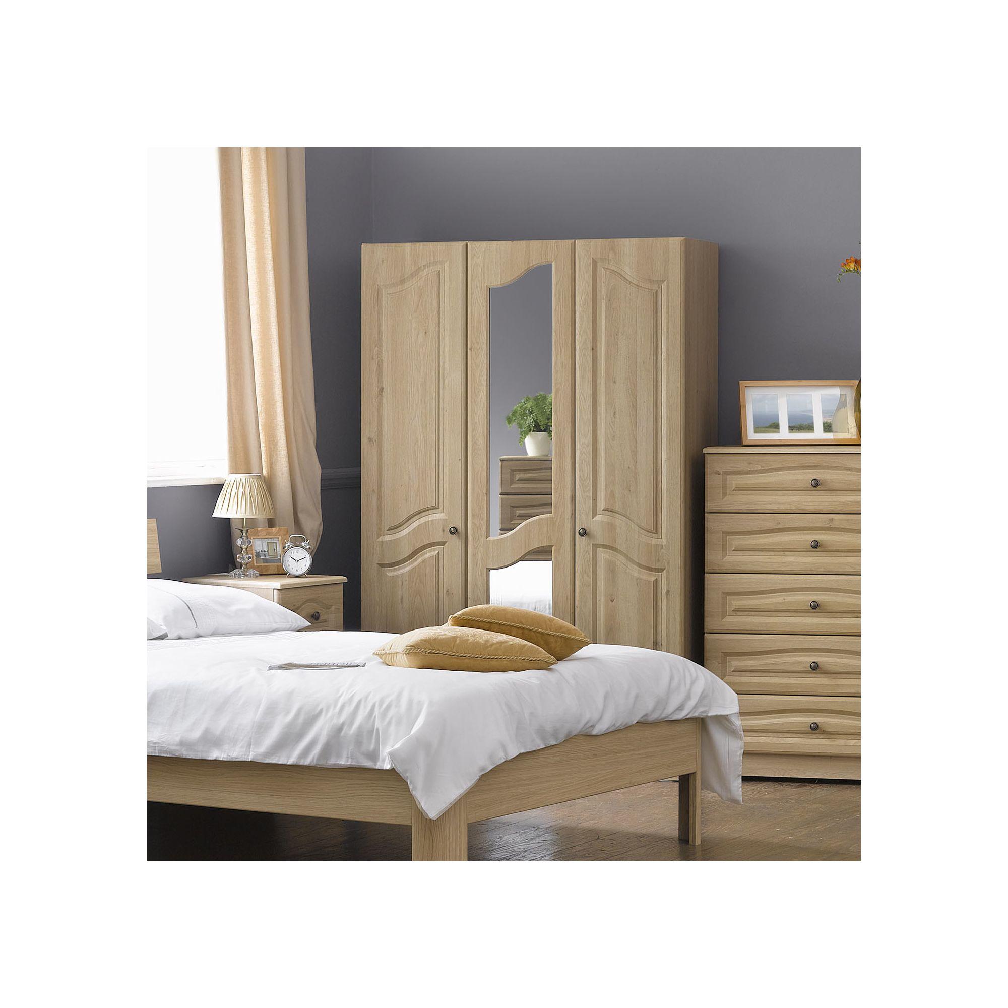 Alto Furniture Visualise Bordeaux Three Door Robe in Oak at Tesco Direct