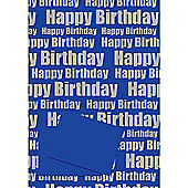 Happy Birthday Blue 2 Sheet 2 Tag Pack