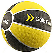 Gold Coast 4kg Heavy Duty Rubber Medicine Ball - For Weights Training Exercise Fitness MMA Boxing