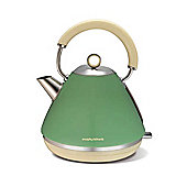 Morphy Richards Retro Accents Pyramid Kettle - Green