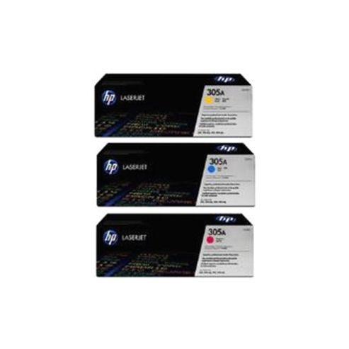 HP 305A Multipack Smart Print Cartridges (1 x Cyan/1 x Yellow/1 x Magenta) for LaserJet Pro 300, 300mfp, 400, 400mfp