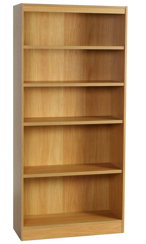 Enduro Five Shelf Tall Narrow Bookcase - Walnut